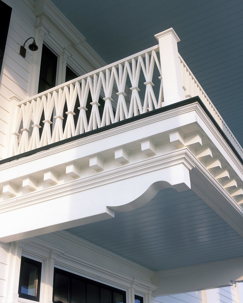 Molding and Decoration of Rear Deck at Chadsworth Cottage