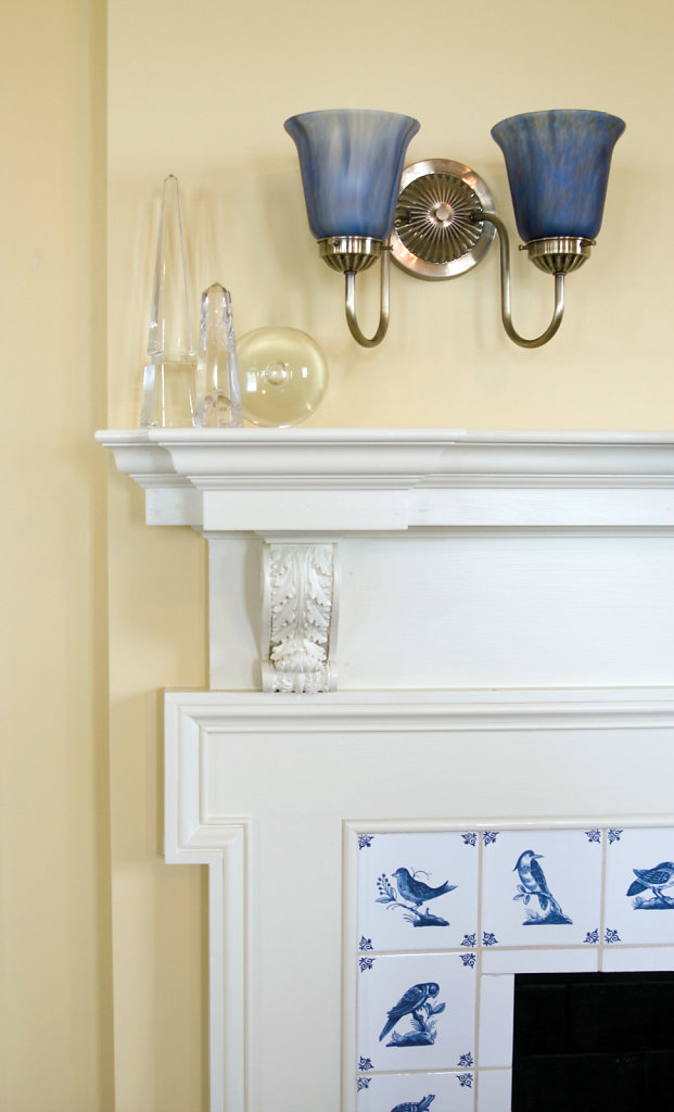Acanthus Corbel on a Mantel