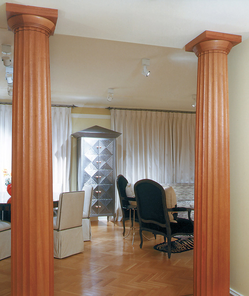 Stain-Grade Fluted Doric Columns