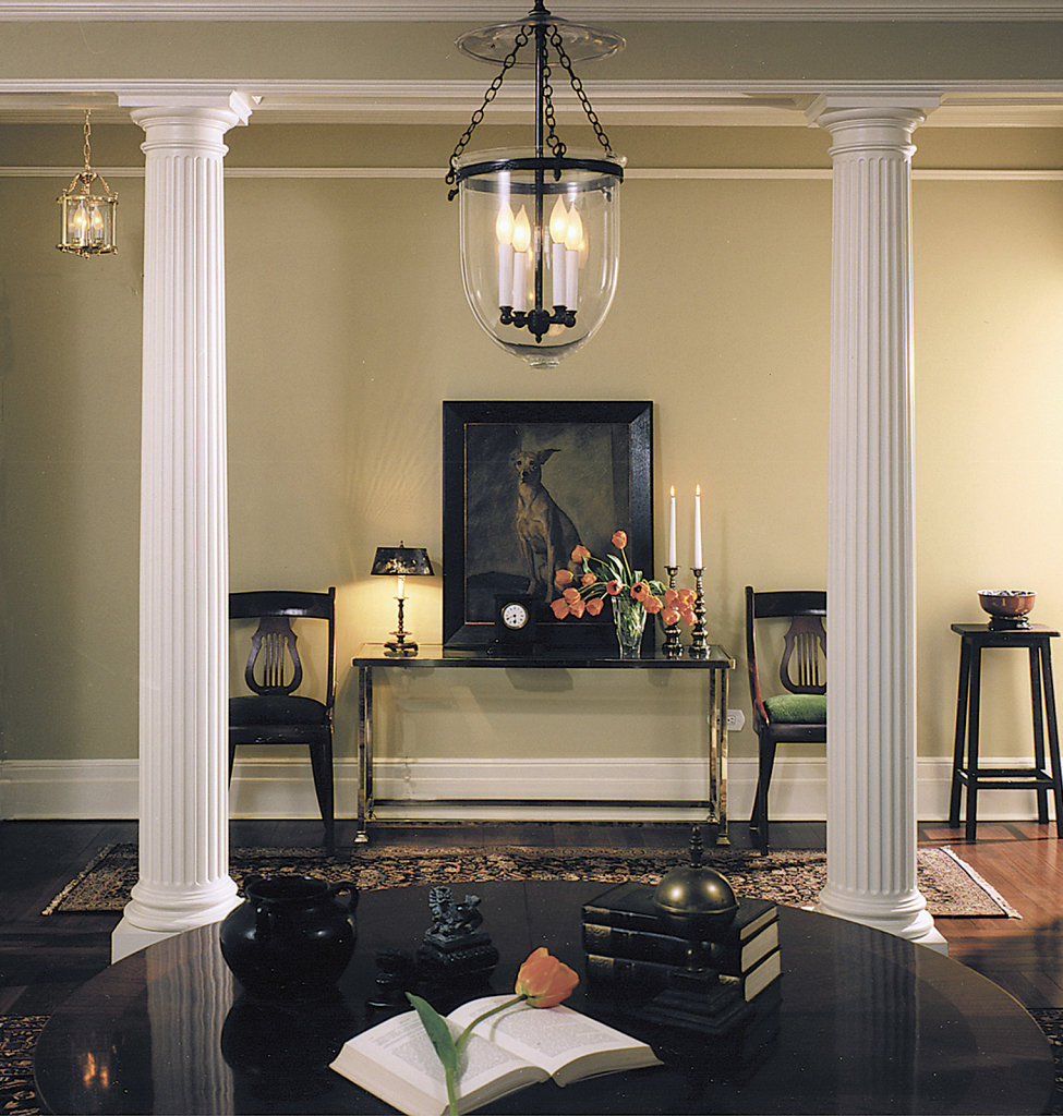 Fluted Doric Columns in Sitting Area