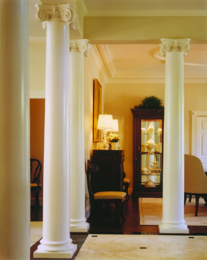 White Scamozzi Columns in a Foyer
