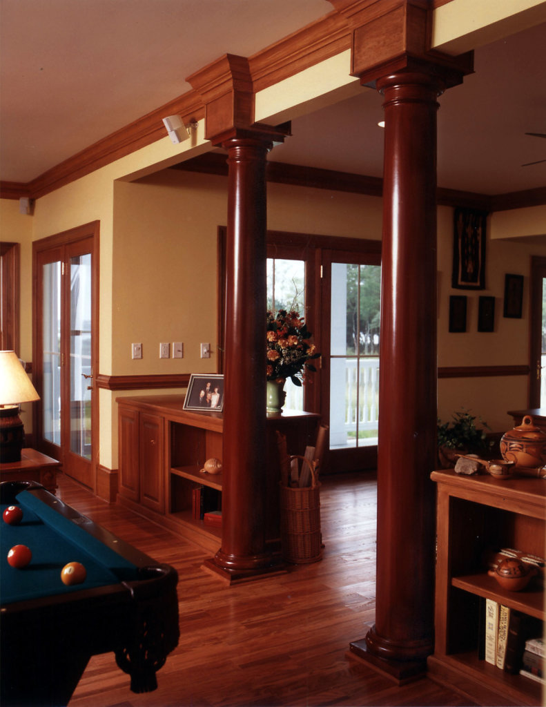 Two Tuscan Columns in Billiards Room