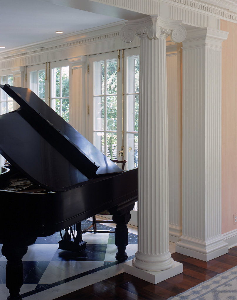 A Scamozzi-Style Column near a Piano