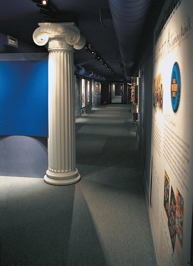 Fluted Ionic Column in Traincar Museum
