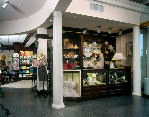 Smooth Tuscan Columns in Retail Store
