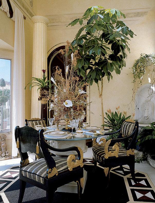 Doric Fluted Column in Master Bedroom