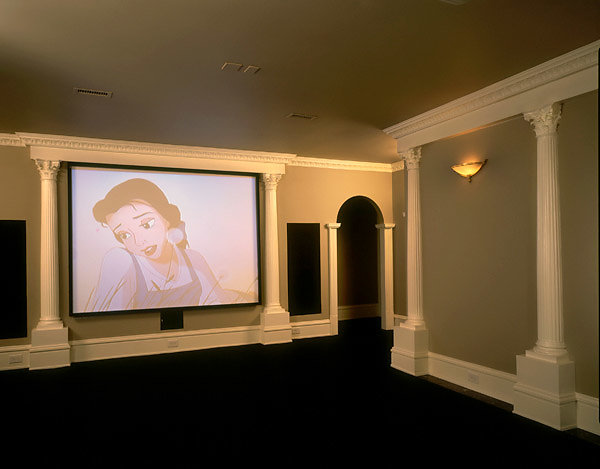 Fluted Corinthian Pilasters in Movie Theater