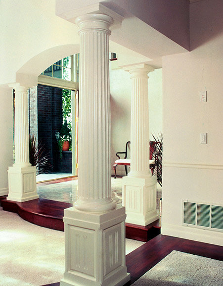 Ionic Columns with Tuscan Capitals in a Dining Room