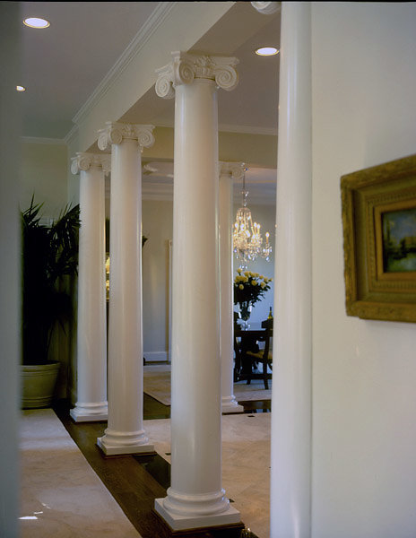 Scamozzi Columns in Hall of Home