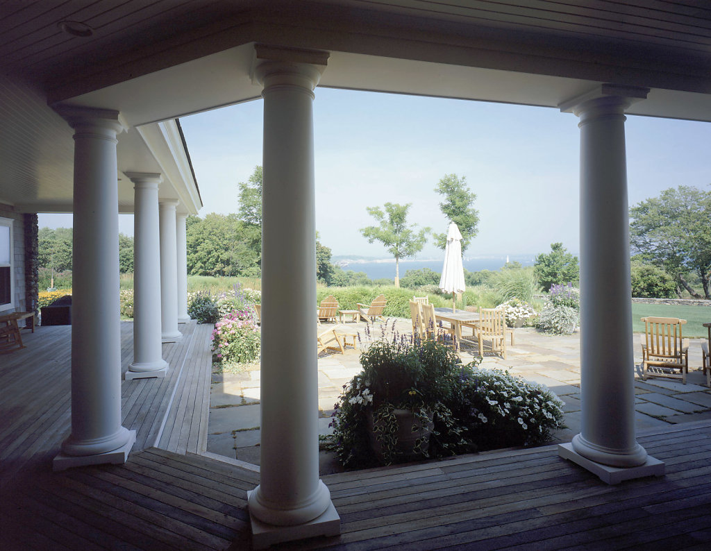 Columns on Porch Surrounding Terrace