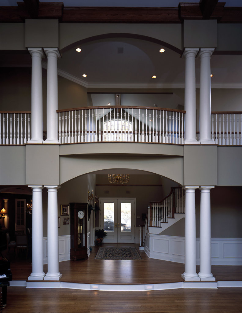 Tuscan Columns in a Living Room