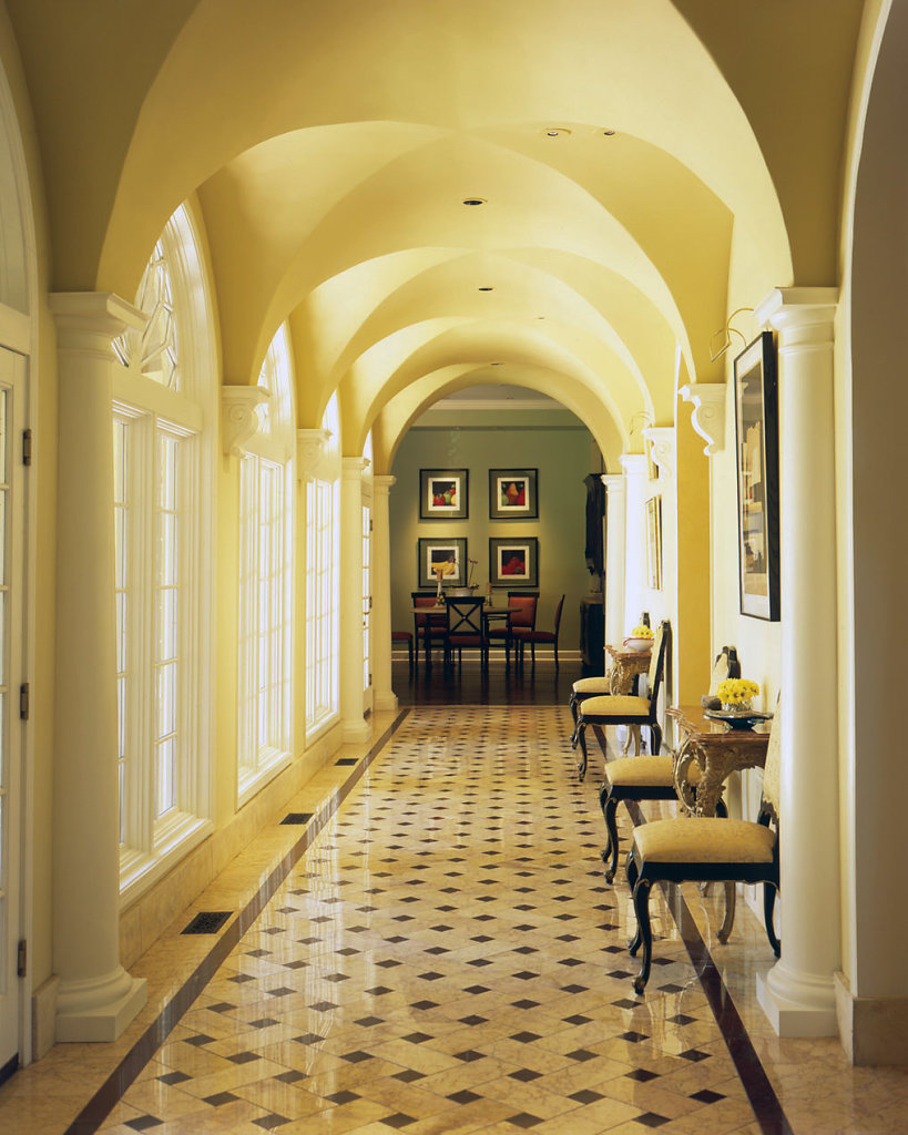 Tuscan PolyStone® Pilasters in a Hallway
