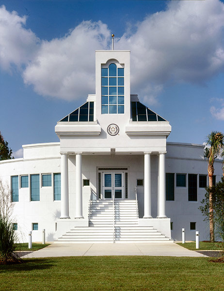 Columns supporting an eave for a church in Florence, SC