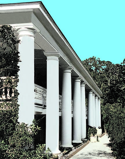 Private Residence, Front Exterior White Columns
